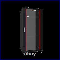 12U 18 Deep Wall Mount IT Network Server Rack Cabinet Enclosure FREE ACCESSORY
