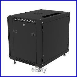 12U 24 Depth Server Rack Enclosure Wall Mount Cabinet
