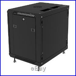 12U 24 depth Wall Mount Network IT Server Cabinet Rack Lockable Enclosure Box