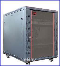 12U 35 Deep Server IT Network Enclosure Rack Cabinet FITS MOST SERVER EQUIPMENT