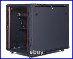 12U 35 Deep Server Rack Case Data It Network Enclosure Computer AV Cabinet