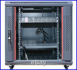 12U 35 Depth Server Rack Enclosure Cabinet IT Data Network Server Rack Cabinet