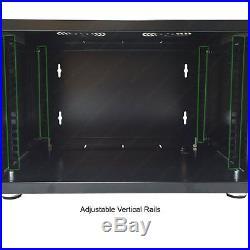 12U E-Pro Series Wall Mount Cabinet Rack Enclosure Black Electriduct