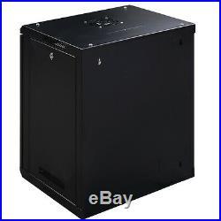 12U IT Cabinet Wall Mount Network Server Data Enclosure Rack Door Lock Stock