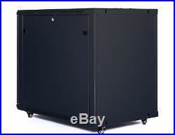 12U IT Portable Server Rack Cabinet 35 Inch Depth Data Rack Enclosure on Casters