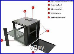 12U Professional Wall Mount Server Cabinet Enclosure 19-Inch Server Network Rack
