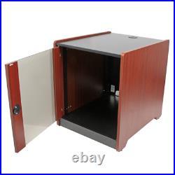 12U Rack Enclosure Server Cabinet 21 in. Deep Wood Finish
