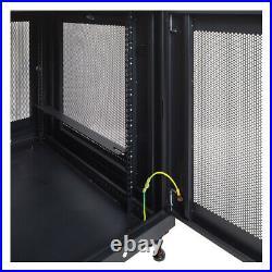 12U Server Data Cabinet Rack Enclosure Mid Depth 33 Deep Perforated Door Lock