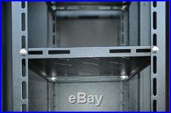 12U Server Enclosure Rack Cabinet 24'' Depth Wall/Floor Server Rack Enclosure