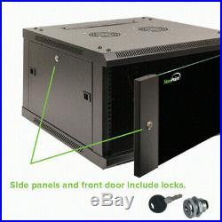 12U Wall Mount 19 Server 600mm Cabinet Rack Enclosure Door Lock With Shelves
