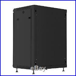 12U Wall Mount Network Server Data Cabinet Enclosure Rack Glass Door