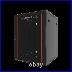 12U Wall Mount Server Cabinet Locking Networking Enclosure Data Rack Glass Door
