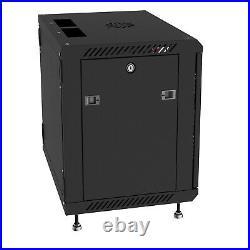 15U 24 Deep Wall Mount IT Network Server Rack Cabinet Enclosure 3FREE ACCESSORY