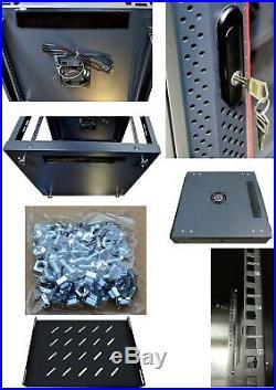 15U 35 Deep IT Wall/Floor Standing Server Rack Cabinet Enclosure