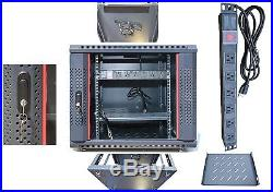 15U 35 Deep Server IT Network Enclosure Rack Lockable Cabinet Accessories FREE