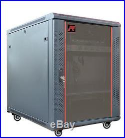 15U 35 Deep Server Rack Cabinet Enclosure Wall/Floor Data Network Server Rack
