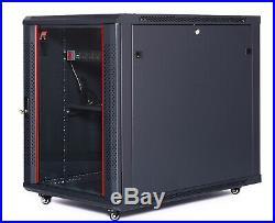15U 35 Deep Server Rack Case Data It Network Enclosure Computer AV Cabinet