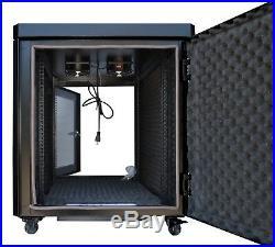15U 35 Inch Depth Silent Sound-proof Server Rack Network IT Cabinet Enclosure