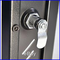 15U Network Server Wall Mount Cabinet Data Enclosure Rack Glass Door Lock