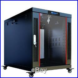 15U Rack 35'' Deep Server Cabinet Network Enclosure/Free Shipping & Accessories