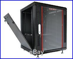 15U Rack Server Cabinet 24 Depth IT Data Enclosure/Free Shipping & Accessories