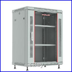 15U Rack Server Cabinet GRAY 24 Depth Enclosure/Free Shipping & Accessories