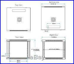 15U Server Rack Cabinet 35 Deep Rack Enclosure/Free PDU, Shelf and Accessories