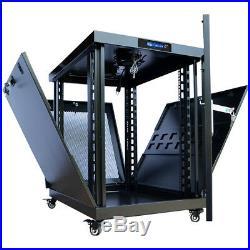 15U Server Rack Cabinet 35 Depth Enclosure/LED Cooling System/PDU and Shelf