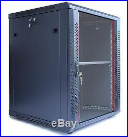 15U Wall Moun Network IT Server Cabinet Enclosure Rack Case Lockable Accessories