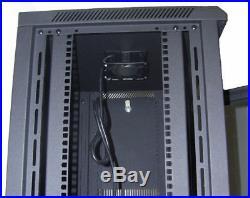 15U Wall Mount IT Server Network Cabinet Rack Enclosure Glass Door Lock 24 Deep