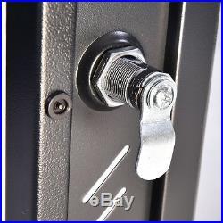 15U Wall Mount Network Server Cabinet Data Enclosure Rack Glass Door Lock withFan