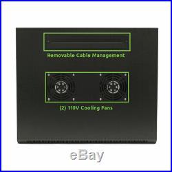 15U Wall Mount Network Server Cabinet Rack Enclosure Glass Door Lock withCasters