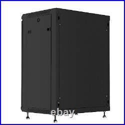 15U Wall Mount Network Server Data Cabinet Enclosure Rack with Fan, 2 Shelves, PDU