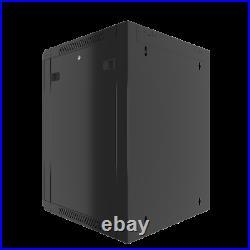 15U Wall Mount Server Rack Network Cabinet Locking Enclosure for Av Data Cabinet