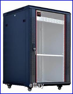 18U 24 Deep Rack Wall/Floor Server Rack Cabinet IT Network Server Enclosure