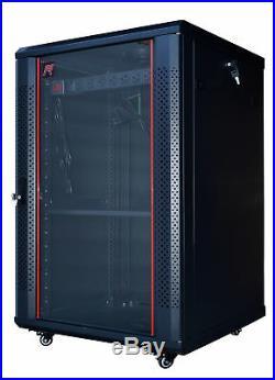 18U 24 Deep Server IT Lockable Network Data Rack Cabinet Enclosure Sysracks