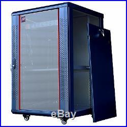 18U 24 Deep Server Rack Cabinet Enclosure