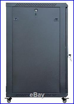 18U 24 Deep Server Rack Enclosure Cabinet Wall/Floor Network Data Server Rack