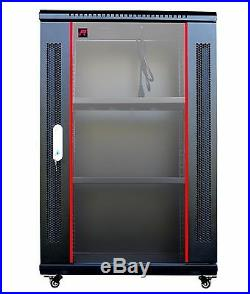 18U 24 Deep Wall/Floor Server Rack Cabinet Enclosure IT Data Network Cabinet