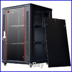 18U 24 Deep Wall Mount IT Network Server Rack Cabinet Enclosure. Accessories