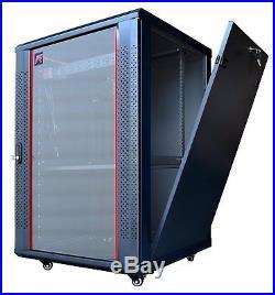 18U 24 Depth IT & Telecom Server Rack Cabinet Enclosure + Bonus Free