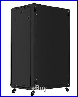 18U 24 Depth Server Rack Enclosure Cabinet IT Data Network Wall/Floor Cabinet
