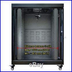 18U 24 Depth Server Rack Enclosure LED Screen Data Network Server Rack Cabinet