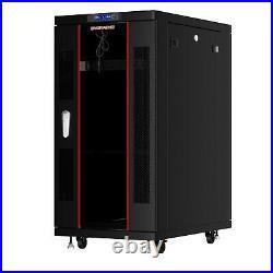 18U 32 Depth 19 Deep IT Network Data Server Rack Cabinet Enclosure Sysracks