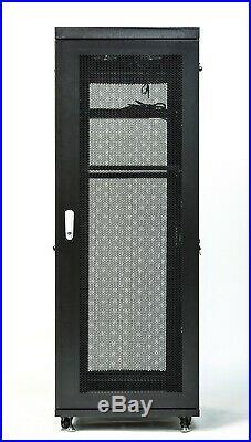 18U 32 Inch Depth Server Rack Cabinet Network It Enclosure Vented Mesh Doors