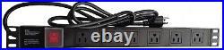 18U 35 Deep GRAY Server Lockable Network Data Rack Cabinet Enclosure