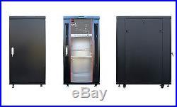 18U 35 Deep Server IT Telecommunication Network Data Rack Cabinet Enclosure