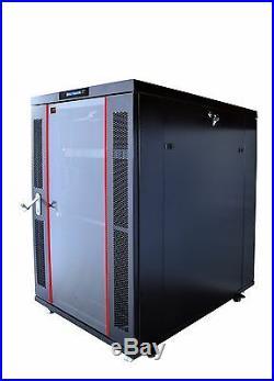 18U 35 Depth Server Rack Cabinet IT Enclosure Free Standing Network Data Rack