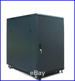 18U 39 Deep Server Rack Enclosure Cabinet IT Data Network Server Rack Cabinet