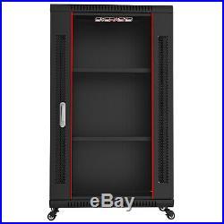 18U IT Portable Server Rack Cabinet Wall Mount 24 Inch Depth Data Rack Enclosure